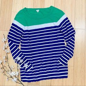 J. CREW colorblock boatneck sweater, M.